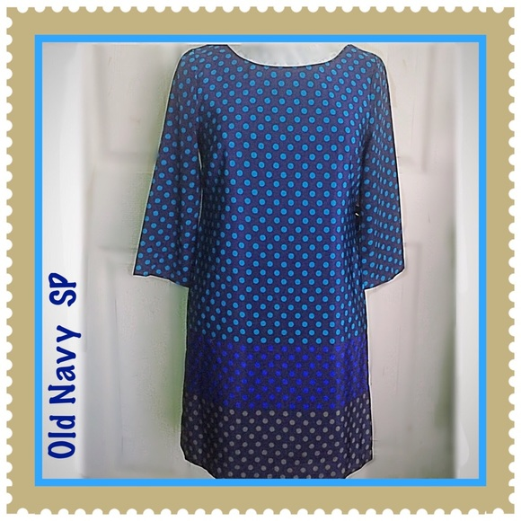 Old Navy Dresses & Skirts - Old Navy Multicolored Polka Dot Shift Small Petite